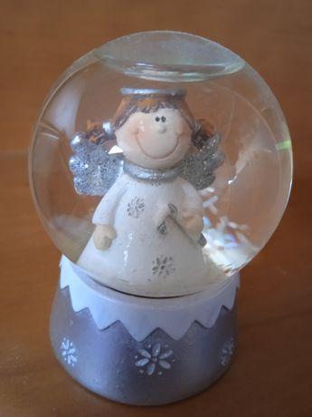 Szklana kula aniołek figurka kolekcjonerska