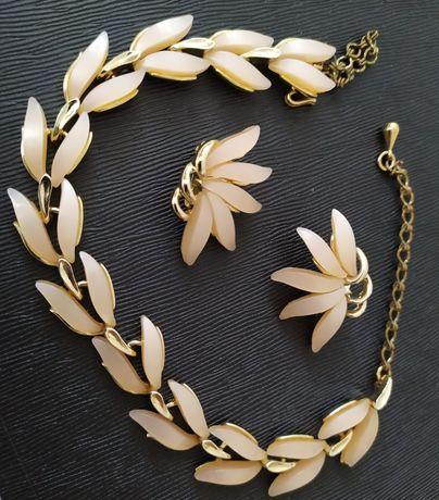 Бижутерия из США винтаж 50е Claudette ожерелье клипсы бусы не серьги