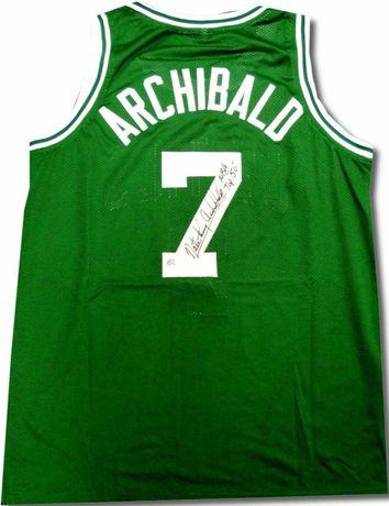 Koszulka NBA oryginalny autograf Nate Archibald certyfikat COA