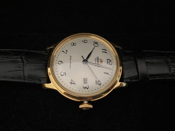 Relógio Orient Automático de Caixa Dourada