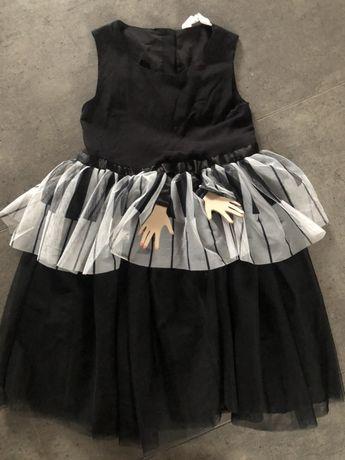 IMPREZOWA h&m sukienka z rączkami tiul 7-8 lat