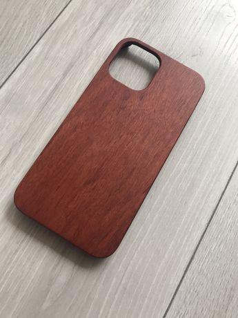 Etui pokrowiec do iPhone 12 PRO Max prawdziwe drewno