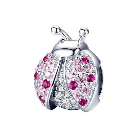Zawieszka charms Biedronka do Pandora srebro 925 AN0072 Ponad 100 wz