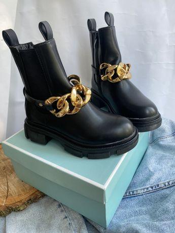 ХІТ Ботинки челси детские с цепочкой дитячі черевики челсі з ціпочкою