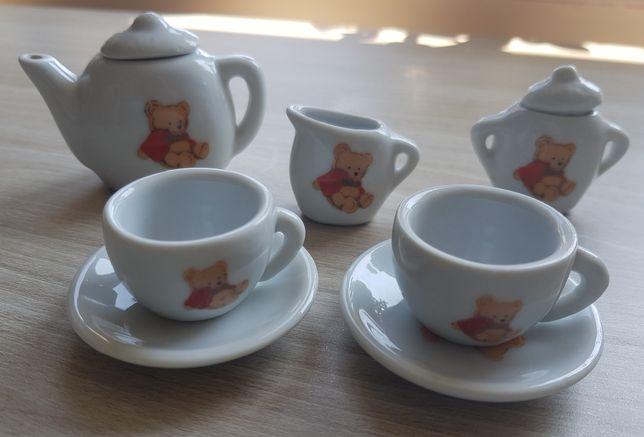 Ceramiczny zestaw herbaciany dla lalek