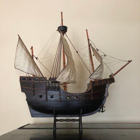 Model żaglowca, żaglowiec statek drewniany, ręczna robota
