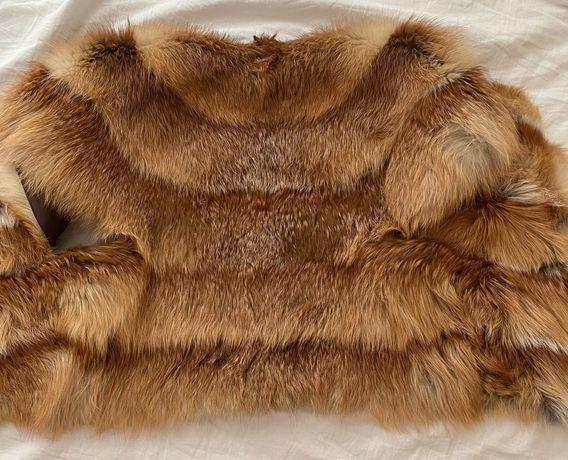 Жилет из натурального меха лисы