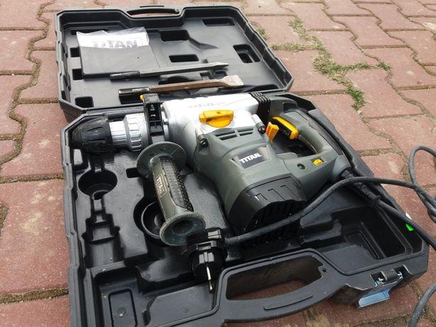 Motowiertarka UDAR 1500w z Sds 8J TITAN kucie wier walizka + osprzet