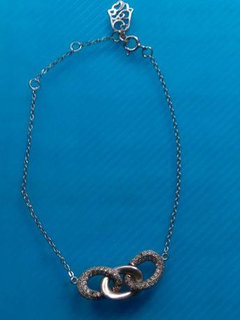 Bransoletka łańcuszek srebrna