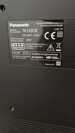 "Telewizor Panasonic Viera 32"" DVBT SUPER TX-L32C3E"