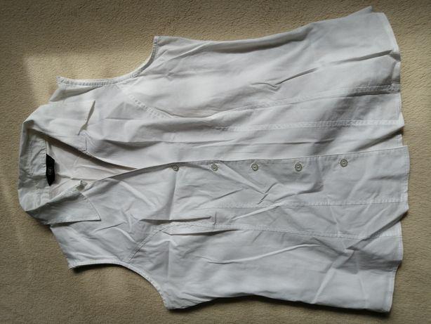 Koszula biała bez rękawów rozm 40 L