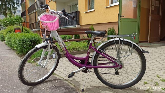 Rower dla dziewczynki Unibike 24''