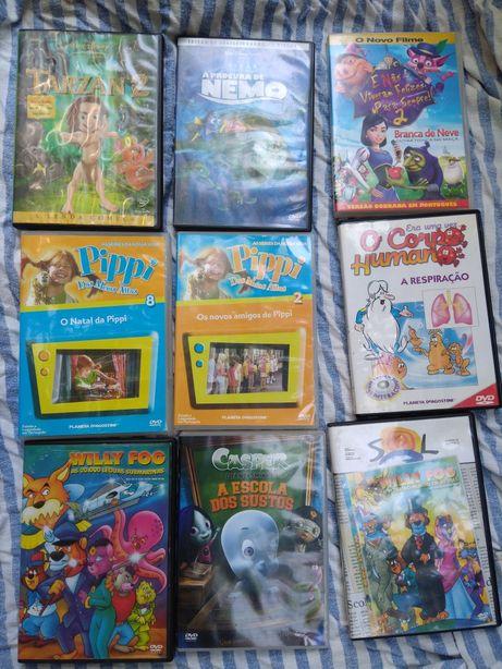 DVD de animação e educação para crianças