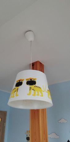 Lampa IKEA Terollakulla, klosz w tygryski