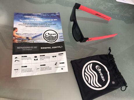 Oculos de Sol desportivos desdobráveis para surf, corrida