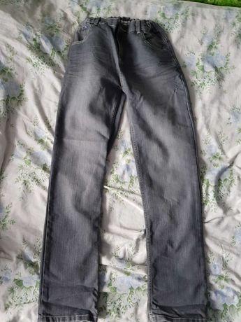 Spodnie jeansowe szare.