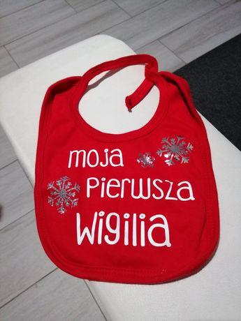 Śliniak dla niemowlaka świąteczny