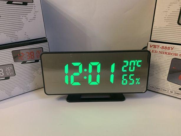 Электронные настольные часы зеркальные 888