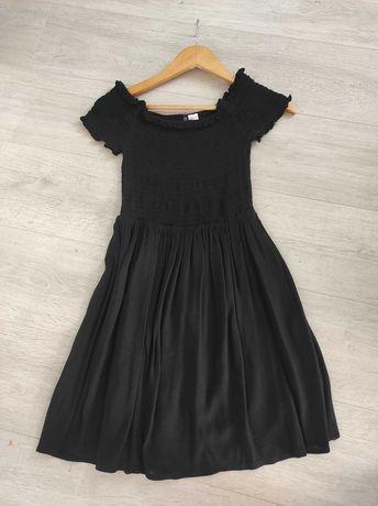 Sukienka czarna krótki rękaw