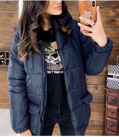 Трендова зимова куртка з поясом