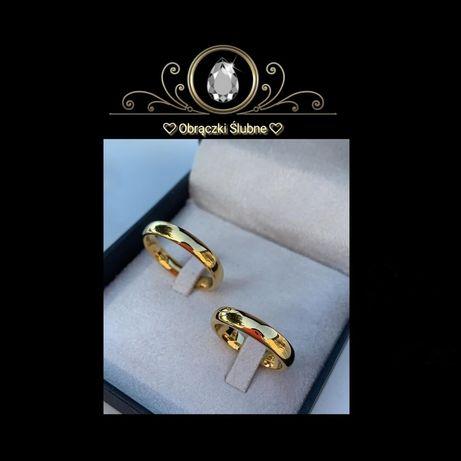 Ponadczasowa Para Złotych Obrączek Ślubnych