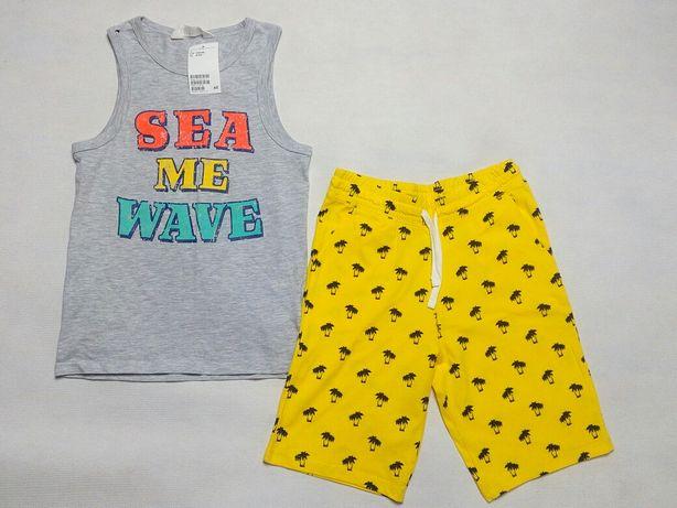 H&M komplet chłopięcy na lato *** NOWY *** 134/140
