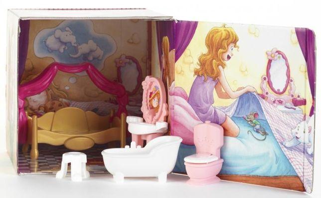 Princess Coralie łazienka i sypialnia dla lalek