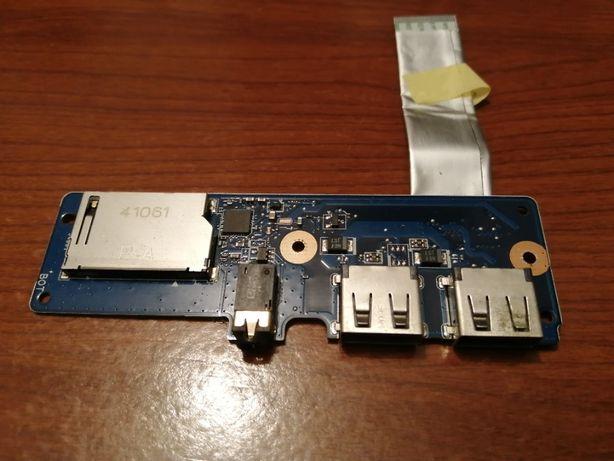 Portas USB conector Fones e leitor cartão SD Toshiba Satellite NB10-A