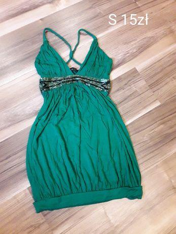 Sukienka S butelkowa zieleń