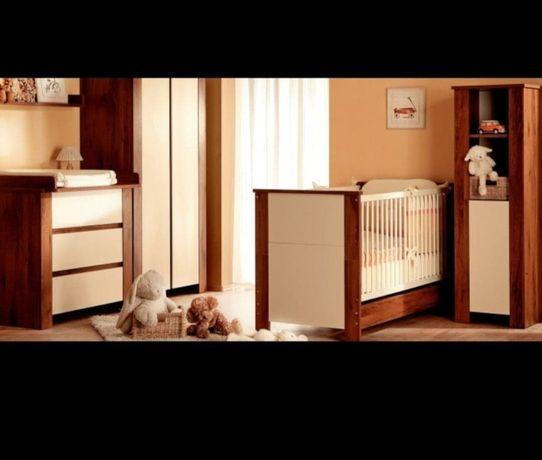 Łóżeczko dla dziecka od noworodka do przedszkolaka + komoda