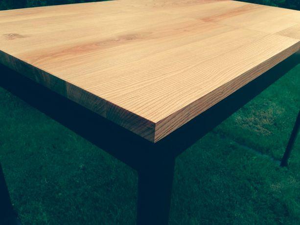 Stół dębowy rozkładany 160/180-240x85 Loft Industrialny