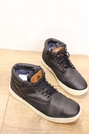 Ботинки кроссовки зимние кожа Timberland мех