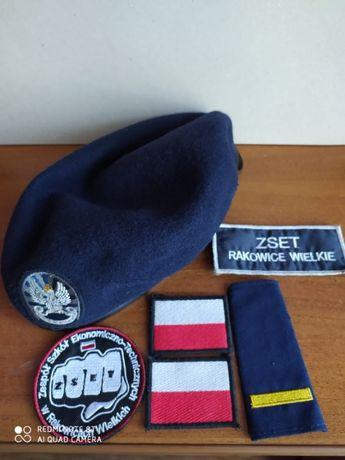 Beret + nszywki do szkoły wojskowej w Rakowicach
