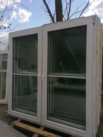 Okno 180 x 184 pcv balkonowe używane 180 x 180