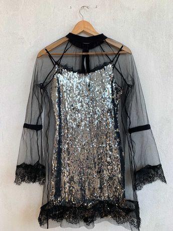 Шикарное платье с пайетками / плаття в паєтках