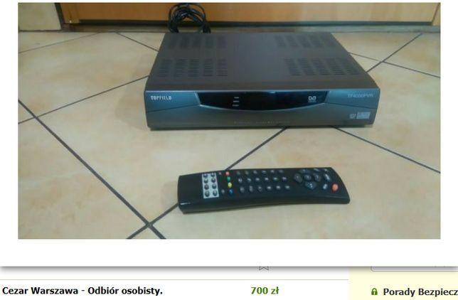 Sprawny Dekoder topfield TF 4000 PVR Dolby Digital dysk twardy 160 GB