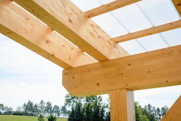 Drewno klejone GL24 na pergolę. Wysoka estetyka wykonania. Mikołów.