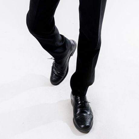 Чорні броги шкіряні чоловічі туфлі / черные кожаные мужские туфли