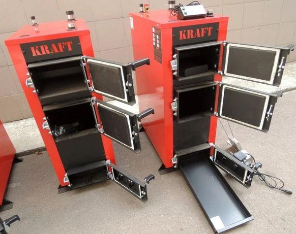 Твердотопливный котел Kraft E new 16 кВт стенка 5 мм, дрова/уголь
