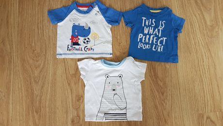Koszulki t-shirt 3pak rozmiar 68