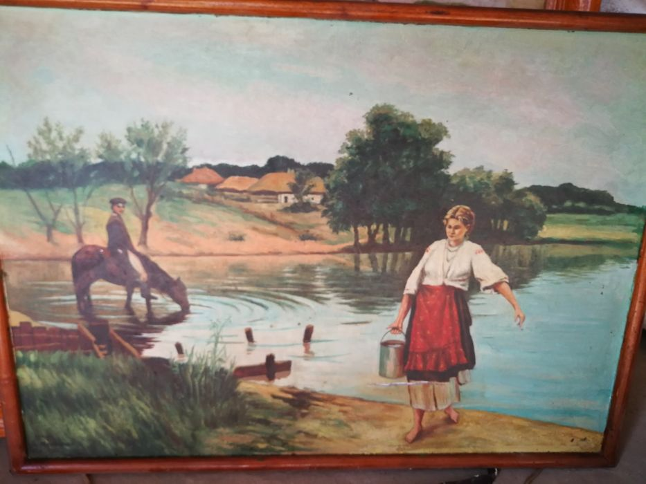 Продам картину, в хорошем состоянии, картина рисована маслом. Суми - зображення 1