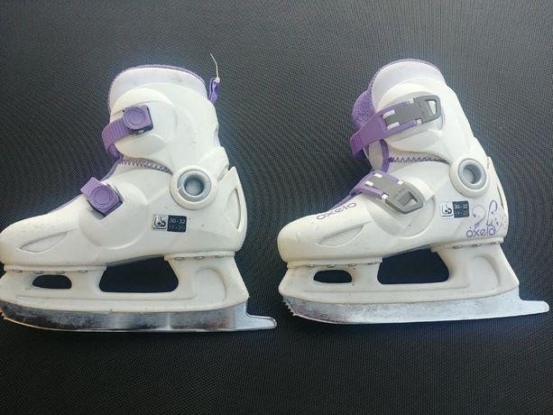 Łyżwy dziecięce regulowane Oxelo rozmiar 30-32 ICE PLAY 3 girl