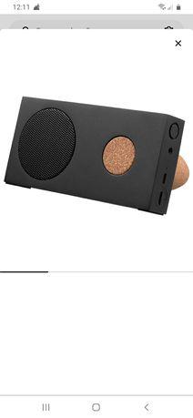 Nowy przenośny głośnik bluetooth czarny ikea