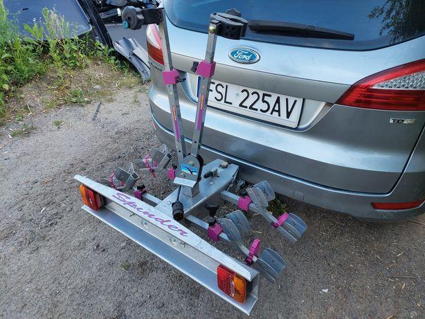 Bagażnik na dwa rowery uchylny
