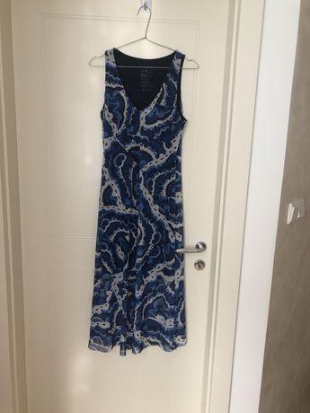 Sukienka letnia niebieska na ramiączka Desigual