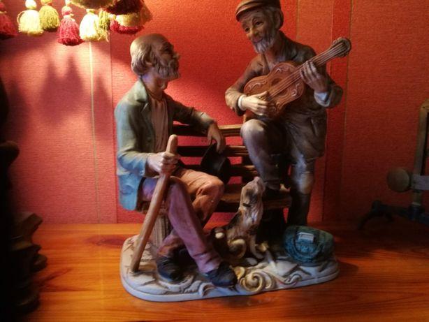 """Figurka ,Porcelana duża """"Gitarzysta """" ławeczka C-6"""