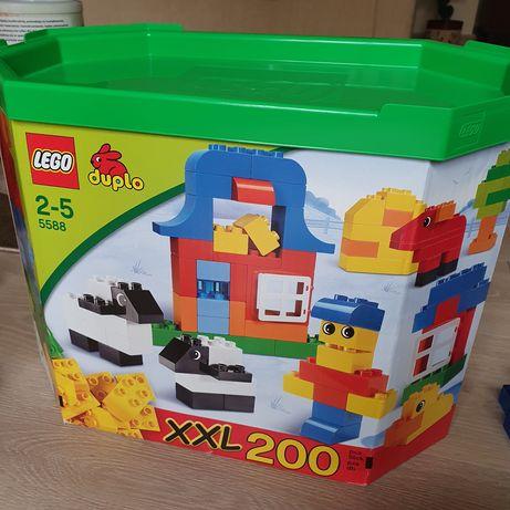 Klocki Lego Duplo XXL 200 szt + inne zestawy (figurki zwierzątka)