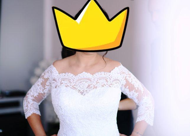 Suknia ślubna + komplet dodatków