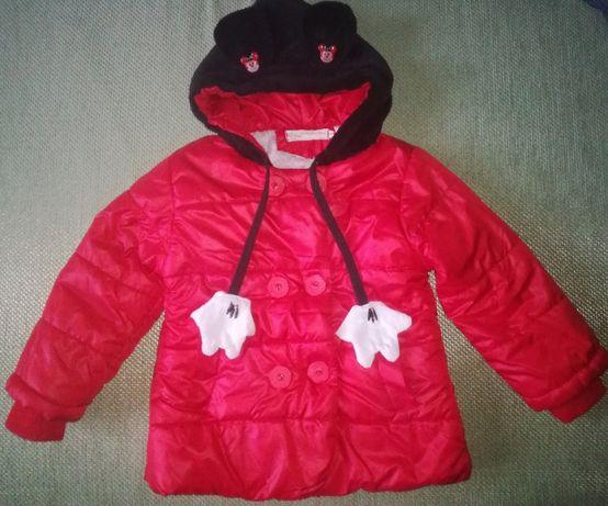 Детская курточка Микки Маус, р. 100