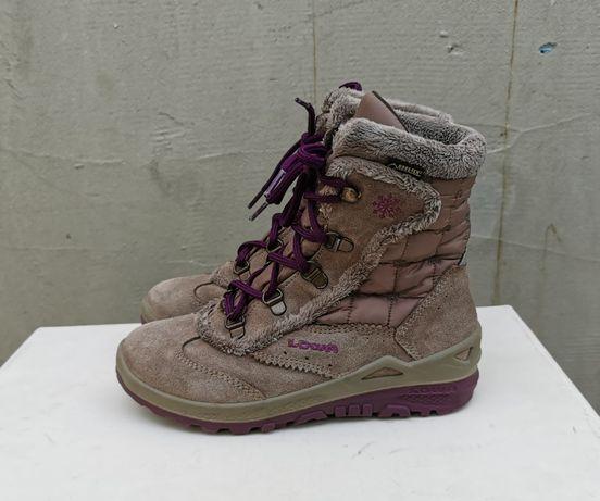 Кожаные зимние ботинки сапоги Lowa Klara GTX Mid 33 р. Оригинал